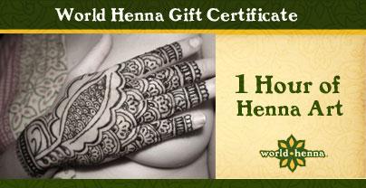 Henna Art Gift Certificate